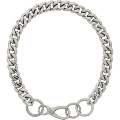 マーティンアリ Martine Ali メンズ ネックレス チョーカー ジュエリー・アクセサリー SSENSE Exclusive Silver Cuban Link Choker Silver