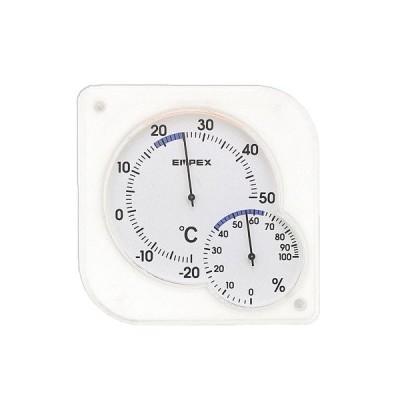 エンペックス シュクレ・ミディ ホワイト│温度計・湿度計 東急ハンズ