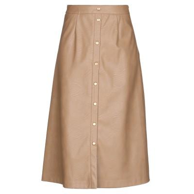 ツインセット シモーナ バルビエリ TWINSET 7分丈スカート キャメル 42 レーヨン 85% / ポリエステル 15% / ポリウレタン樹脂