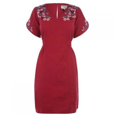 ピープル ツリー People Tree レディース ワンピース ワンピース・ドレス Alyssa Embroidered Dress Red