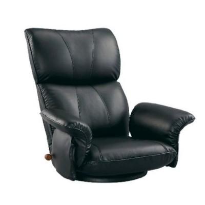 【代引き不可】宮武製作所(MIYATAKE) スーパーソフトレザー座椅子 -匠- ブラック YS-1396HR BK