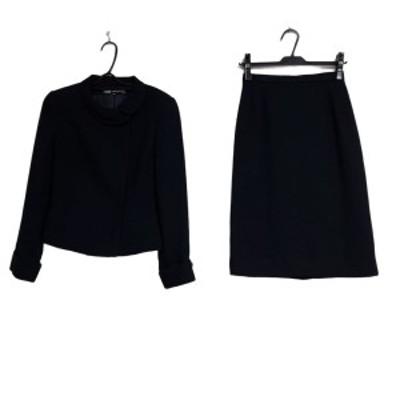 エムズグレイシー M'S GRACY スカートスーツ サイズ38 M レディース - ネイビー【中古】20210318
