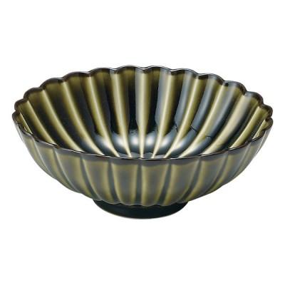 業務用食器 ぎやまん 利休 GREEN 楕円鉢 16×13×6�