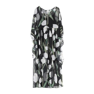 NO SECRETS 7分丈ワンピース・ドレス ブラック 42 ポリエステル 100% 7分丈ワンピース・ドレス