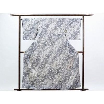 【中古】リサイクル小紋 / 正絹モノトーン袷小紋着物 / レディース(古着 中古 小紋 リサイクル品)