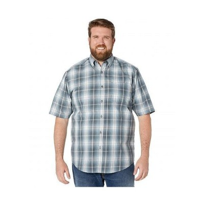 Wolverine ウルヴァリン メンズ 男性用 ファッション ボタンシャツ Big & Tall Mortar Short Sleeve Shirt - Dark Slate Plaid
