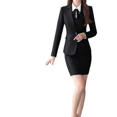 レディース 洋服 スーツ セット スカートスーツ フォーマルスーツ 上下 セットアップ スーツ 長袖 2点セット ビジネス服(s210204016)