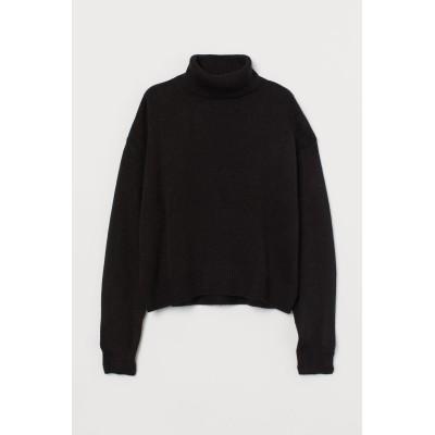 H&M - タートルネックセーター - ブラック
