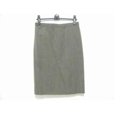 レリアン Leilian ロングスカート サイズ9 M レディース ベージュ×黒【中古】20190809