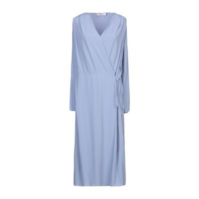 ジャッカ JUCCA 7分丈ワンピース・ドレス スカイブルー 44 アセテート 69% / シルク 31% 7分丈ワンピース・ドレス