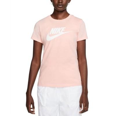 ナイキ Tシャツ トップス レディース Women's Sportswear Cotton Logo T-Shirt Washed Coral