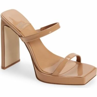 ジェフリー キャンベル JEFFREY CAMPBELL レディース サンダル・ミュール シューズ・靴 Hustler Platform Sandal Dusty Nude Patent