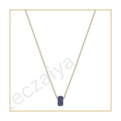 SWAROVSKI Stone Round Pendant - Blue - Rose Gold Plating - 5389431並行輸入品