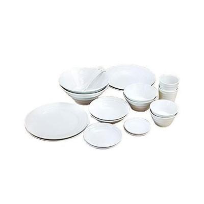 みのさらら 洋食器セット 白い食器 20点セット 大皿・深皿・深ボウル3サイズ・浅ボウル・取皿・小皿・フリー?
