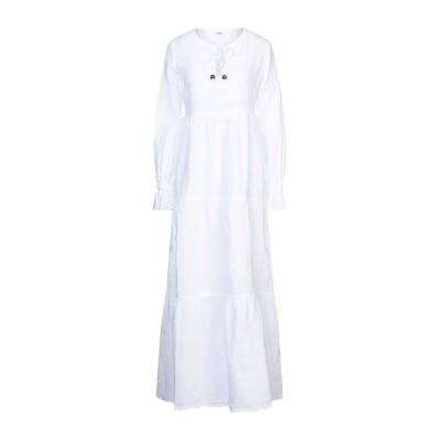 LFDL ロングワンピース&ドレス ホワイト S リネン 100% ロングワンピース&ドレス