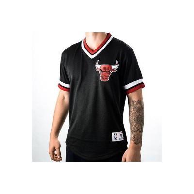 ミッチェル&ネス Tシャツ シャツ トップス 半袖 長袖 Mitchell & Ness NBA Chicago Bulls mesh V Neck Top NEW メンズ 139T-CHIBUL-BLK ブラック