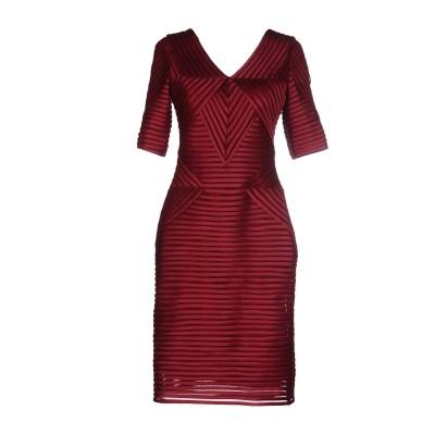 CLIPS ミニワンピース&ドレス ガーネット 50 ポリエステル 100% ミニワンピース&ドレス