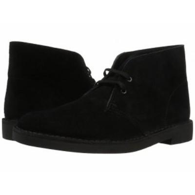 Clarks クラークス メンズ 男性用 シューズ 靴 ブーツ チャッカブーツ Bushacre 2 Black Suede【送料無料】