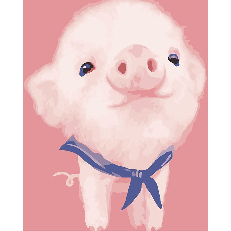 ArtLife 藝術生活 現貨 DIY 數字 油畫 彩繪 66501 藍領小豬  40X50cm