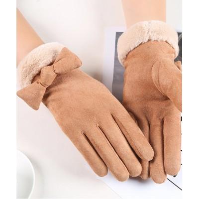 TeddyShop / スマホタッチ裏起毛リボングローブ WOMEN ファッション雑貨 > 手袋