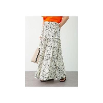 花柄ティアードスカート BB15L0L0200