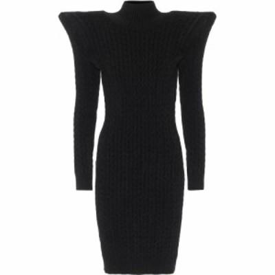 バレンシアガ Balenciaga レディース ワンピース ワンピース・ドレス Pagoda Cable-Knit Chenille Minidress Black