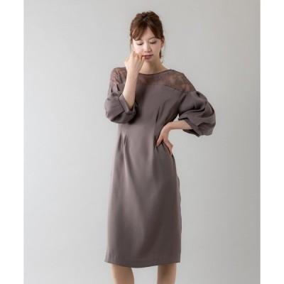 ドレス ボリュームスリーブドレス(9R04-S1713)