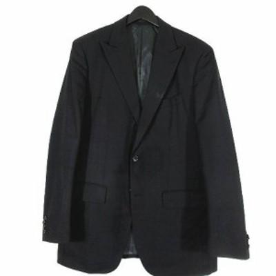 【中古】ジョセフアブード JOSEPH ABBOUD スーツ セットアップ チェック柄 黒 ブラック サイズ50W85 メンズ