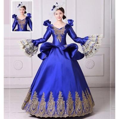 貴族 衣装 サイズ指定可能 王族服 カラードレス 締め上げ ジュリエット現代劇演出 ヨーロッパ風 結婚式 演出服 パーティードレス パニエ追加可 da204zezeh2