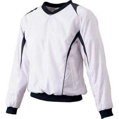 SSK エスエスケイ ベーシックプレジャン 蓄熱プレジャン Vネック長袖シャツ 裏メッシュ ホワイト×ブラック 野球 BWP14101090