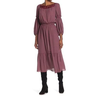 マックスタジオ レディース ワンピース トップス Printed Tiered Midi Dress WNBKMBDT