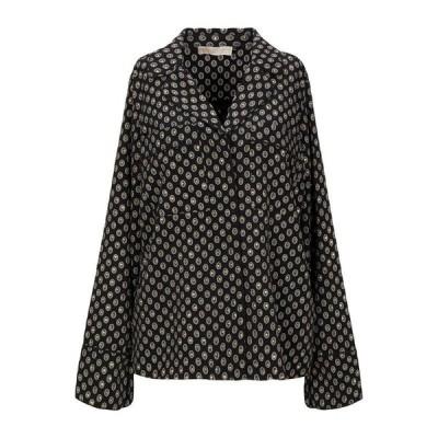 MICHAEL MICHAEL KORS マイケルコース 柄入りシャツ&ブラウス  レディースファッション  トップス  シャツ、ブラウス  長袖 ブラック