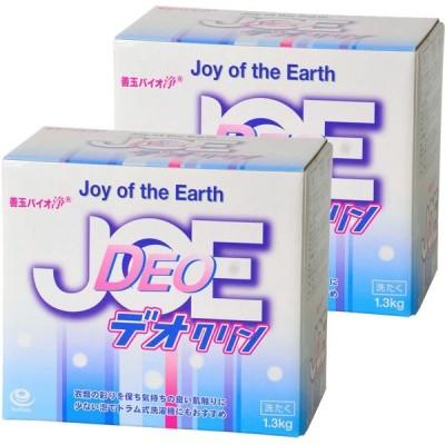 エコプラッツ 善玉バイオ浄 JOE デオクリン 無香料のエコ洗剤 粉末 1.3kg 2箱セット