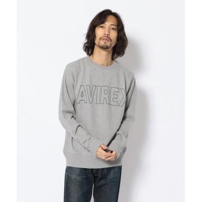 【アヴィレックス】 ロゴ クルーネックスウェット/AVIREX DAILY WEAR メンズ OXFORD XXL AVIREX