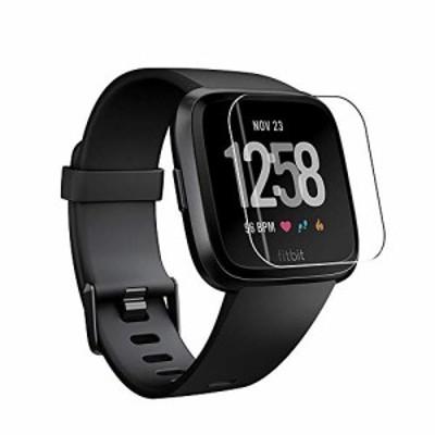 【新品・送料無料】ELMK【2枚セット】Fitbit Versa 2 フィルム Fitbit Versa2 保護フィルム TPU製・縁を浮かない・高透過率・超薄型・指