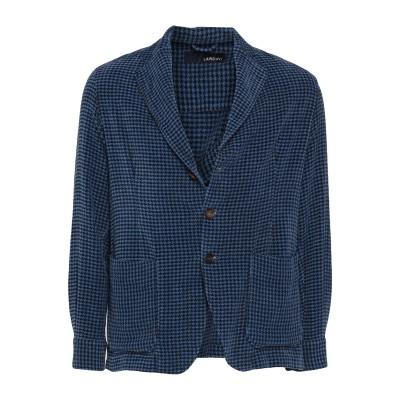 ラルディーニ LARDINI テーラードジャケット ブルー M コットン 100% テーラードジャケット