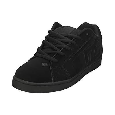 DC Men's Net Lace-Up Shoe, Black/Black/Black, 14 D M US