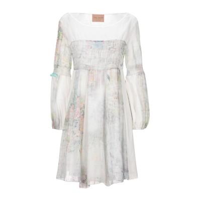 ELISA CAVALETTI by DANIELA DALLAVALLE ミニワンピース&ドレス ホワイト S コットン 100% / ポリウレタ