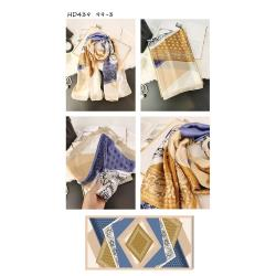 超細纖維歐美配色絲巾2條