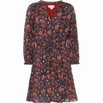 ベルベット グラハムandスペンサー Velvet レディース ワンピース ワンピース・ドレス Shoshana Floral Cotton Minidress Navy