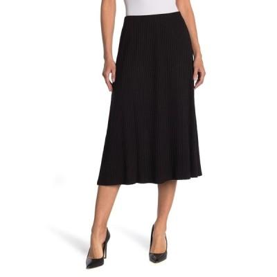 キャサリンマランドリーノ レディース スカート ボトムス Ribbed Knit Midi Skirt BLACK