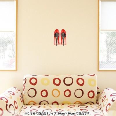 ウォールステッカー 飾り 30×30cm シール式 装飾 おしゃれ 壁紙 はがせる 剥がせる カッティングシート wall sticke  ファッション おしゃれ 靴 014360