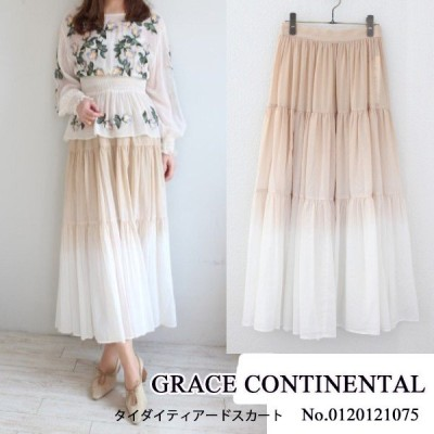 SALE セール 0120121075 GRACE CONTINENTAL グレースコンチネンタル タイダイティアードスカート 20SS 送料無料 あすつく