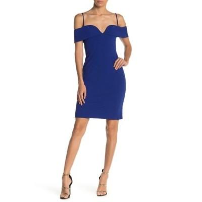 ベベ レディース ワンピース トップス Cold Shoulder Mini Dress COBALT