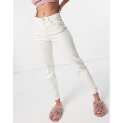 オンリー Only レディース ジーンズ・デニム ボトムス・パンツ Veneda mom jeans in ecru