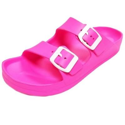 レディース 靴 ミュール Women's Lightweight Comfort Soft Slides EVA Adjustable Double Buckle Flat Sandals (FREE SHIPPING)