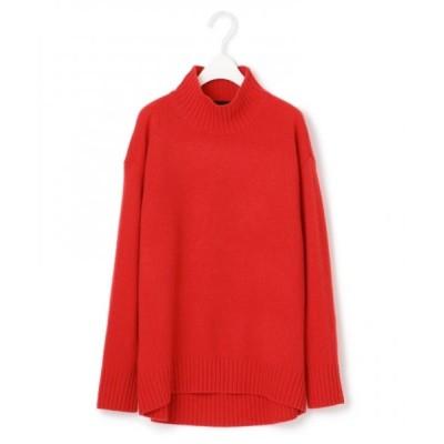 L size ONWARD(大きいサイズ)/エルサイズオンワード 【マガジン掲載】Soft Cashmere Mix ハイネックニット(番号CL24) レッド L