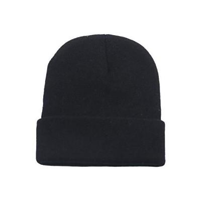 UIEGAR 冬用ビーニー帽 ユニセックス カジュアル スキーハット ソフト 暖かい ニット 男女兼用 US サイズ: