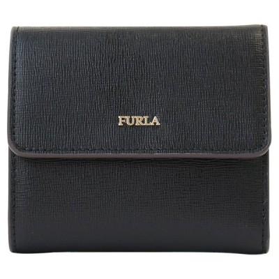 フルラ 三つ折り財布 921850 PU11 B30 O60 BABYLON S BIFOLD ONYX 3つ折り財布 コンパクト財布 BABYLON(バビロン) FURLA