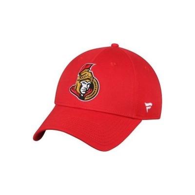ホッケー NHL ファナティクス ブランド Fanatics Branded Ottawa Senators Red Elevated Core Structured Adjustable Hat